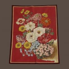 Tapisserie bouquet fond rouge - LP1676